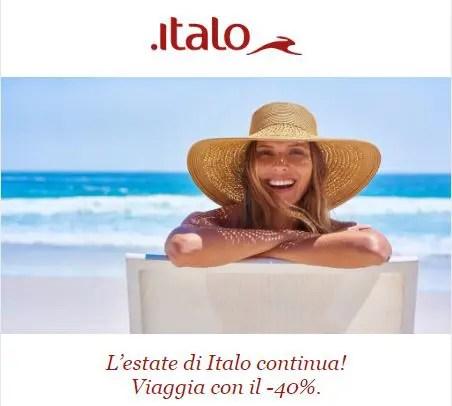 Con Italo l'estate continua: viaggia con il -40%