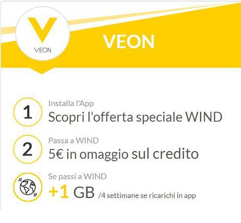Wind promozione Veon