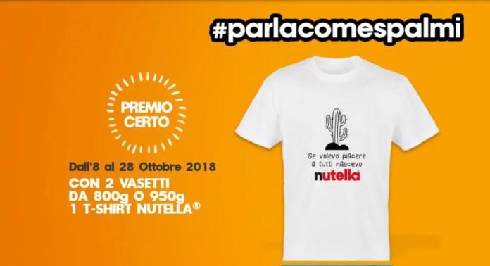 T-shirt Nutella in omaggio acquistando 2 vasetti
