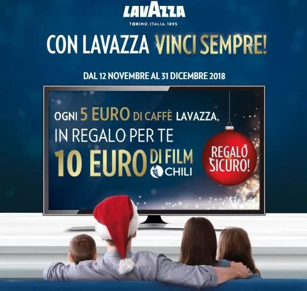 Lavazza e CHILI: ogni 5€ di caffè ricevi 10€ di film!