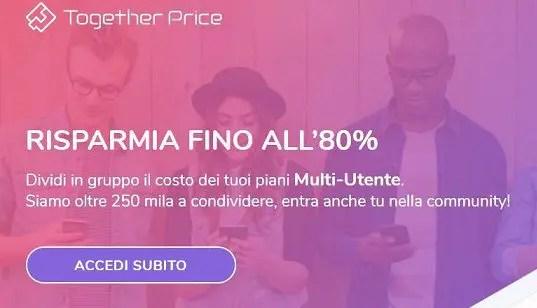 Together Price regala 2,50€ se ti registri per la prima volta