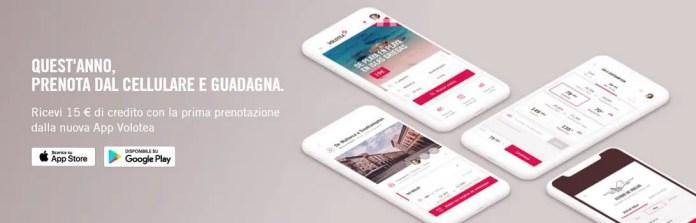 Volotea: ricevi 15€ di credito con il prossimo acquisto sulla app