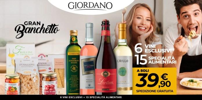 Giordano Vini Gran Banchetto: 15 Specialità e 6 Vini Pregiati a soli 39,90€