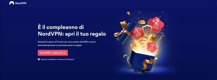 Compleanno NordVpn: 68% Di Sconto Sul Piano Da 2 Anni E Un Regalo A Sorpresa, Gratis!
