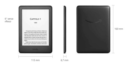 Dimensioni e-reader Kindle