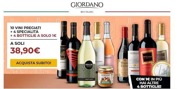 """Giordano Vini """"Gustoso menù"""" : 10 vini pregiati + 4 specialità alimentari + 4 vini extra a soli 38,90€"""