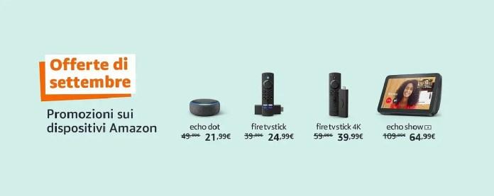 Dispositivi Amazon Offerte di settembre