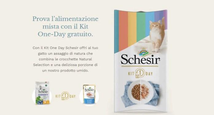 Schesir: ricevi in omaggio il Kit One-Day di alimentazione mista per gatti!