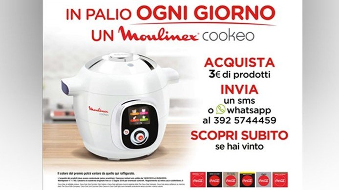 Acquista Coca-Cola e vinci il sistema multi-cottura intelligente Moulinex Cookeo