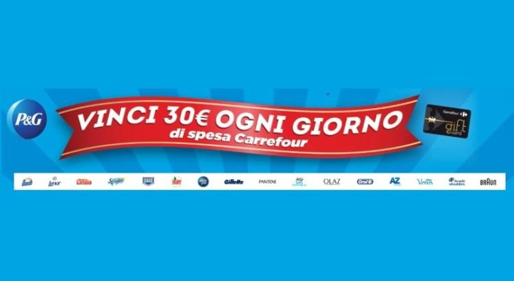 Concorso P&G da Carrefour: vinci ogni giorno 30 Euro di buoni spesa