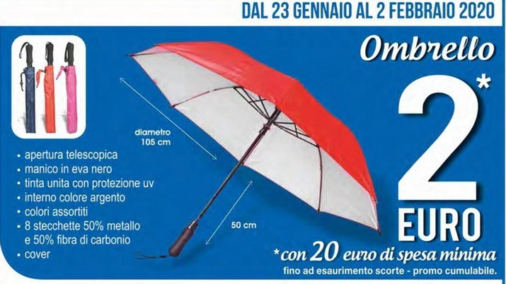 Ombrello in offerta da MD
