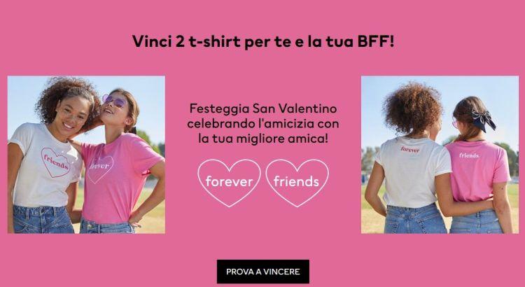 Concorso H&M San Valentino vinci t-shirt Divided migliori amiche