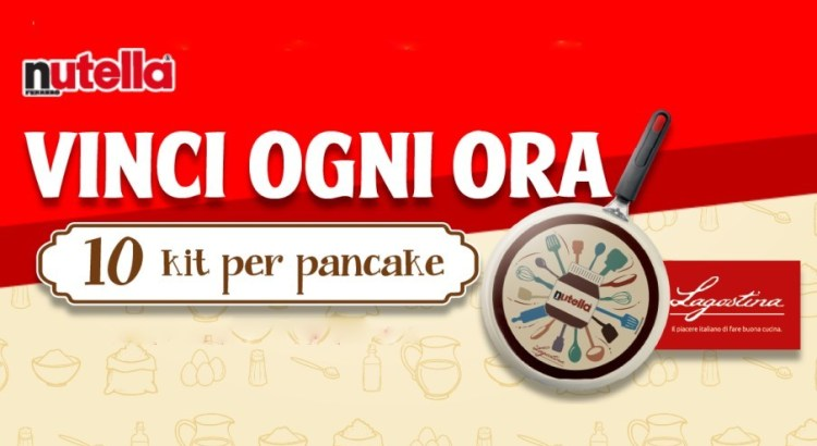 Concorso Nutella 2020 vinci kit Pancake