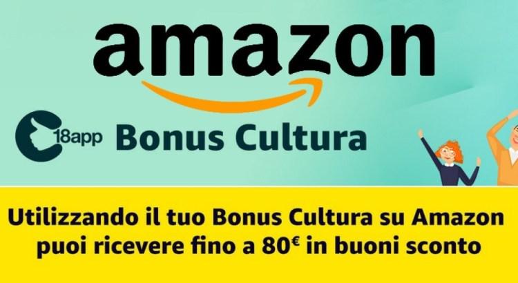 18app Bonus Cultura Amazon ricevi fino a 80€ in buoni Amazon