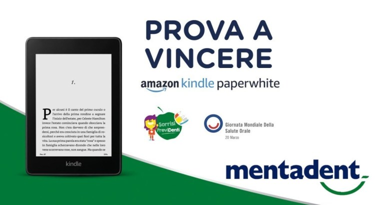 Concorso Mentadent vinci Amazon Kindle Paperwhite