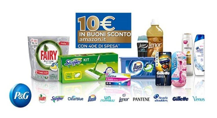 P&G spendi 40€ e ricevi buono Amazon da 10€