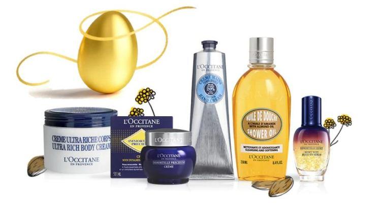 L Occitane trova uovo di Pasqua dorato vinci confanetto