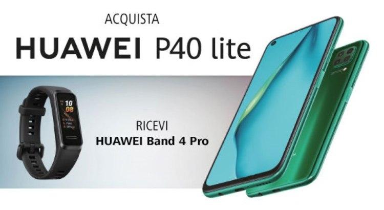 Huawei P40 lite ti regala Huawei Band 4 Pro