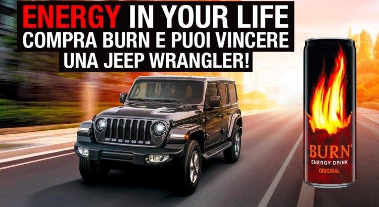 Concorso Burn vinci fuoristrada Jeep Wrangler Sahara
