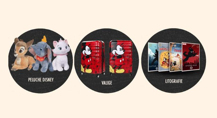 Concorso gratuito Kiabi vinci trolley peluche litografie Disney