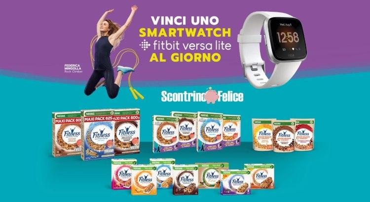 Concorso Nestlè Fitness vinci smartwatch Fitbit Versa Lite