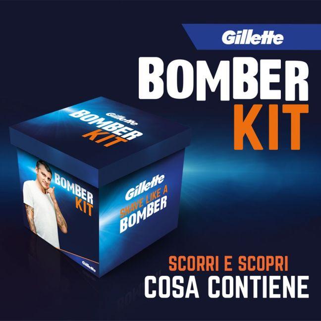 www.scontrinofelice.it concorso gillette vinci 480 bomber kit anche senza acquisto concorso gillette bomber kit 1 Concorso Gillette: vinci 480 Bomber Kit (anche senza acquisto!)