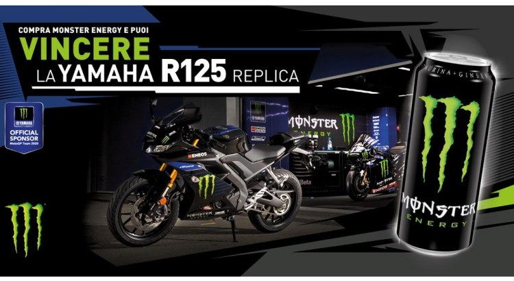 Concorso Monster da Coop vinci la moto Replica yamaha r125