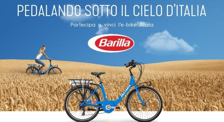 Concorso Barilla Pedalando sotto il cielo d Italia vinci bicicletta E-Bike Atala