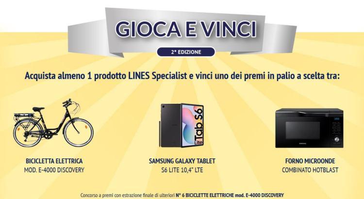Concorso LINES SPECIALIST Gioca Vinci Seconda Edizione