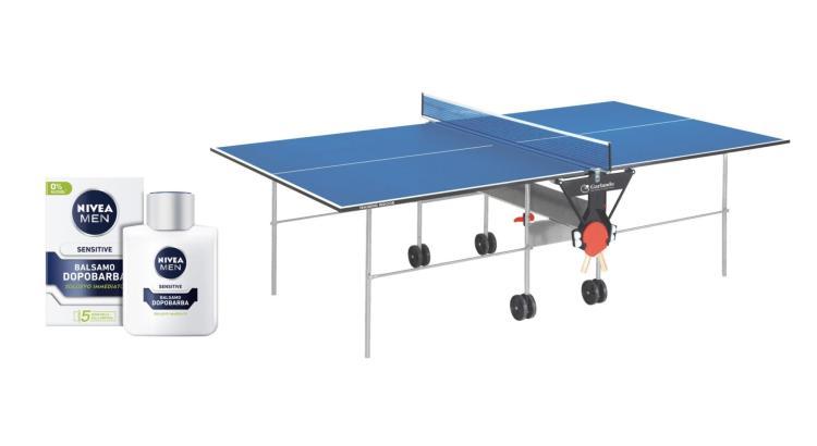 Concorso Nivea Men da Tigotà vinci tavolo da Ping Pong Garlando
