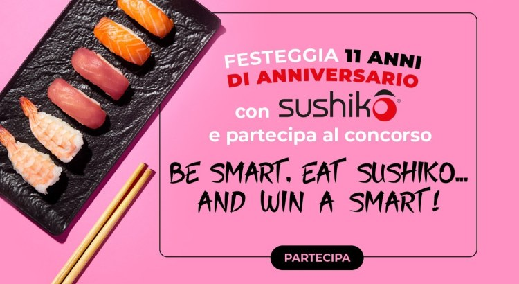 concorso a premi Be Smart Eat Sushiko vinci Smart fortwo