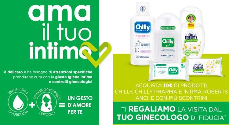 Chilly Pharma Intima Roberts AMA IL TUO INTIMO premio certo visita ginecologica