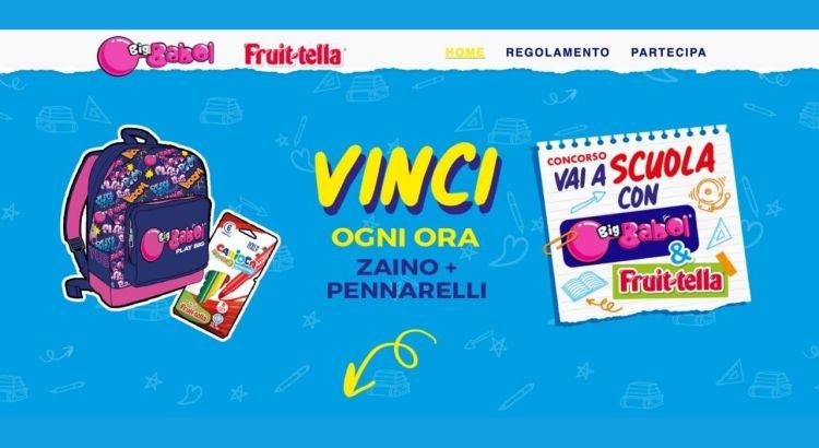 concorso big babol fruittella vinci zaino seven e pennarelli carioca