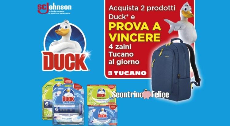 Concorso Duck da Ipersoap vinci zaino Tucano Bizip per Laptop