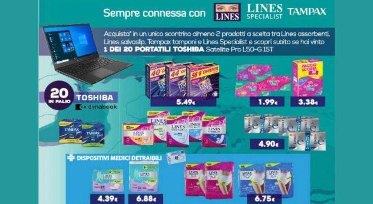 concorso-lines-lines-specialist-e-tampax-da-tigota-vinci-20-pc-portatili-toshiba