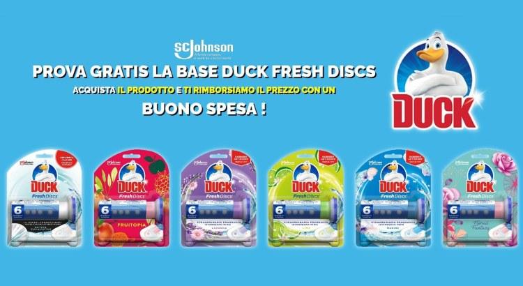 Provami Gratis Duck Fresh Discks ricevi il rimborso con un buono spesa