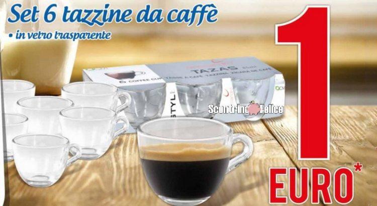 6 tazzine da caffè a solo 1€ da MD