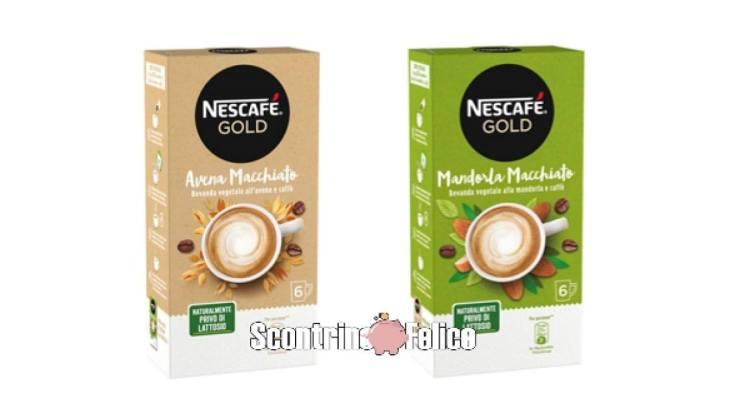 Buono sconto Nescafé Gold Avena Macchiato e Mandorla