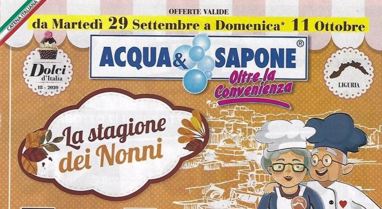 Nuovo Volantino Acqua e Sapone valido dal 29-09 all 11-10 2020