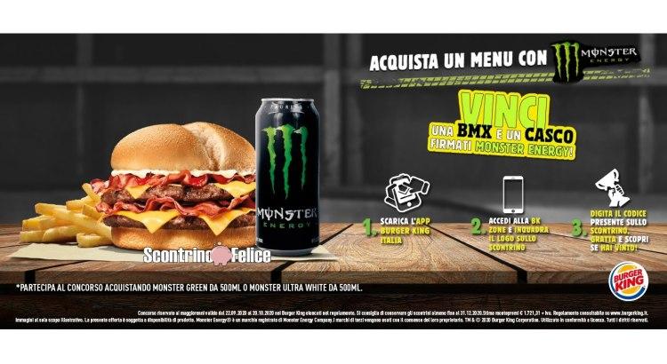 Concorso Monster e Burger King vinci una bicicletta BMX e un casco