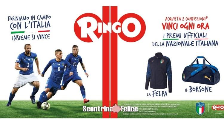 Concorso Ringo Torniamo in Campo 2020 vinci borsoni felpe della nazionale italiana