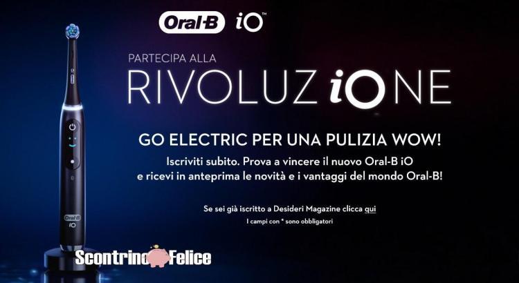 Vinci gratis 50 nuovissimi spazzolini elettrici Oral-B iO