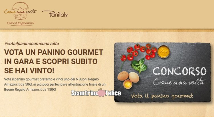 Vota il tuo panino gourmet preferito e vinci gratis Buoni Regalo Amazon