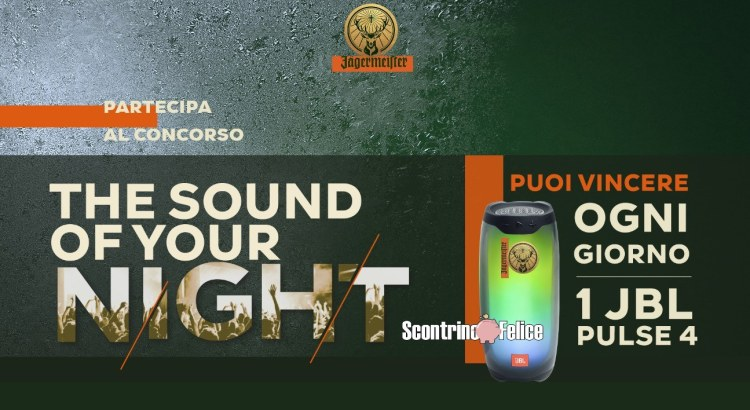 Concorso Amaro ​Jägermeister The Sound Of Your Night vinci 61 Speaker Jbl Pulse 4
