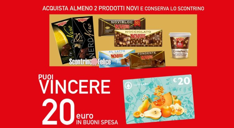 Concorso Novi da Interspar in palio 250 Happy Card Despar del valore di € 20