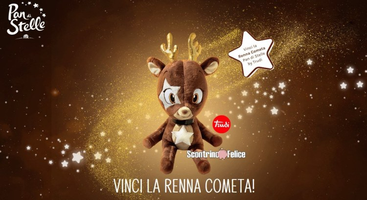 Concorso Pan Di Stelle Risveglia il Sogno del Natale vinci peluche renna Trudi 2020