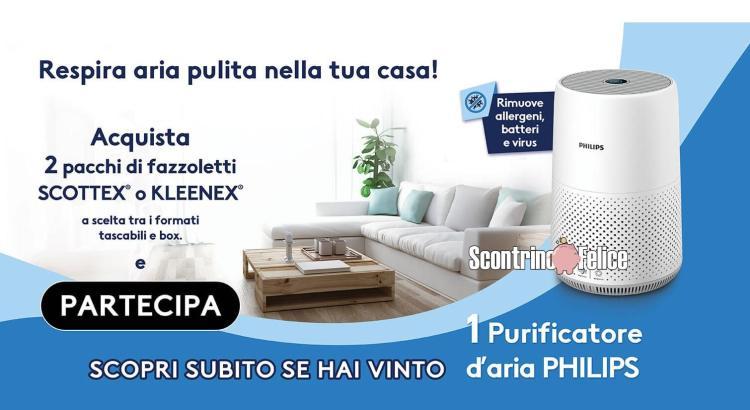 GIOCA CON SCOTTEX E VINCI UN PURIFICATORE D ARIA PHILIPS ACQUA E SAPONE