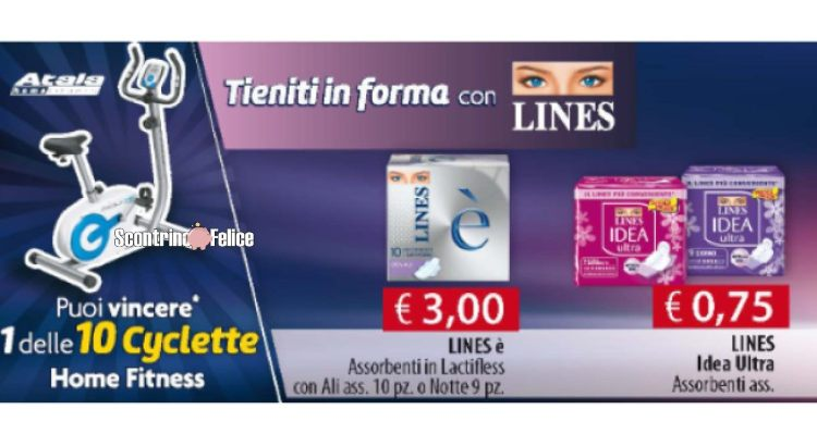 Tieniti in forma con Lines vinci 10 Cyclette Home Fitness