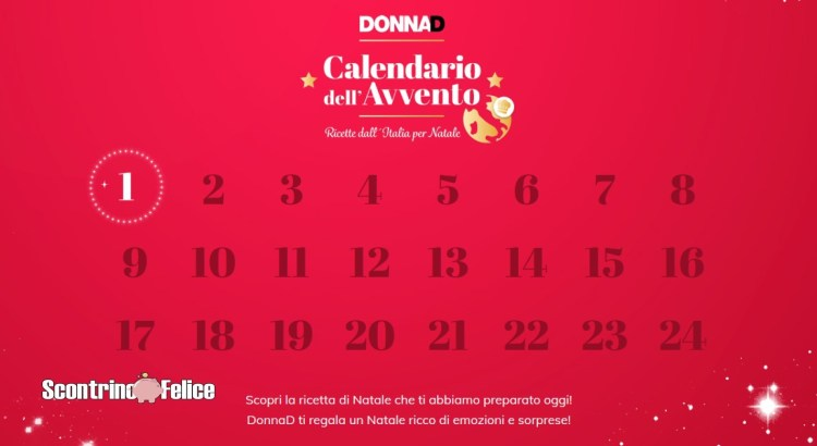 Calendario dell'Avvento Donna D 2020
