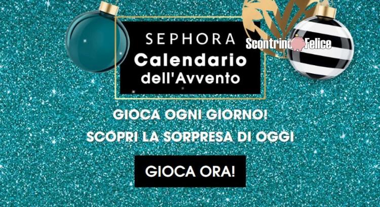 Concorso gratuito Sephora Advent Calendar Game in palio 10 beauty kit